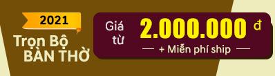 Trọn bộ Bàn thờ Thần Tài chỉ dưới 2 triệu